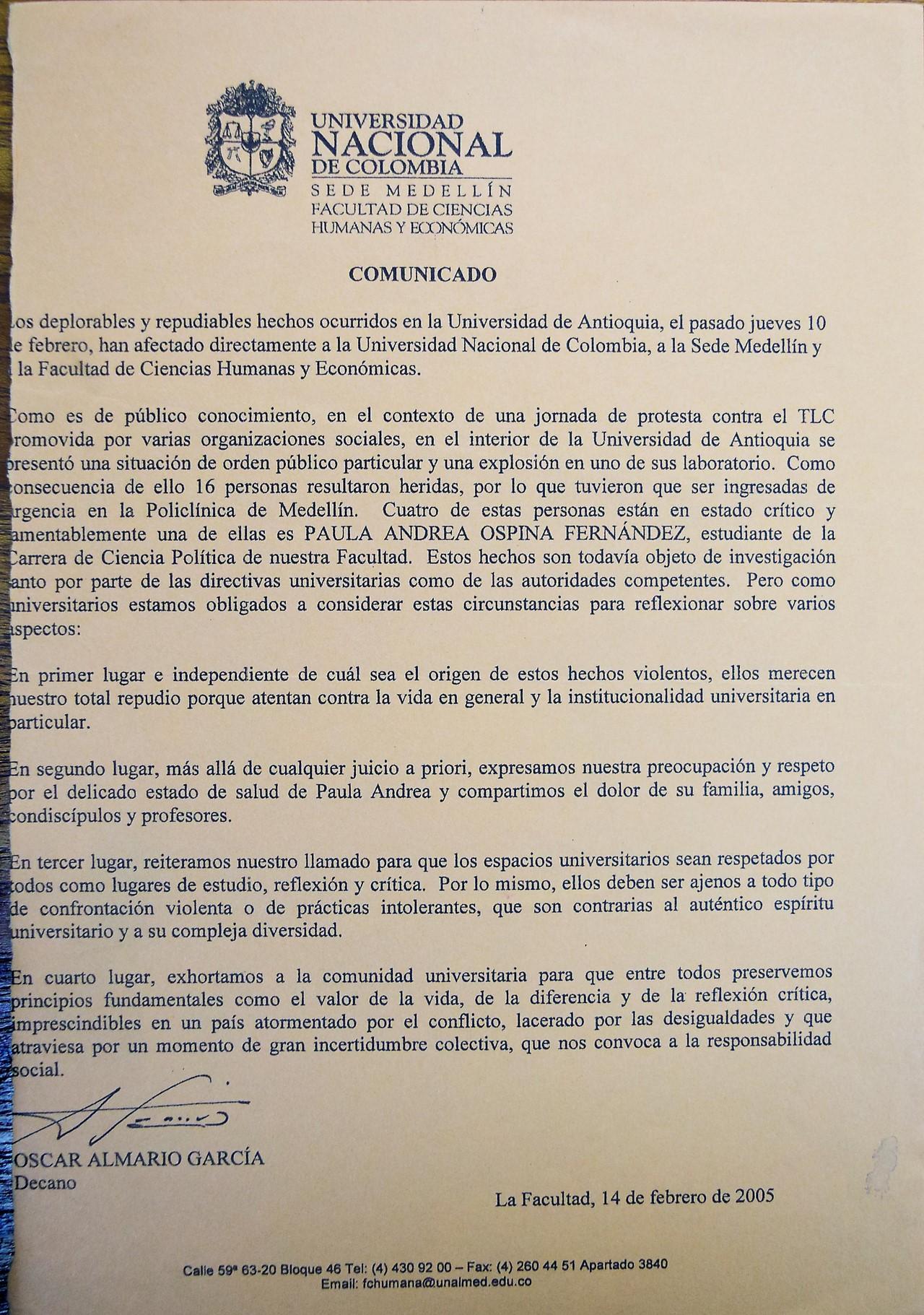 Imágenes vía Archivo de la Oficina Estudiantil de la Universidad Nacional sede Medellín y Julio Londoño
