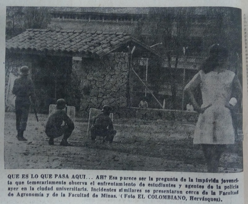 Fotografía tomada de la edición del 18 de abril de 1972 del periódico El Colombiano.