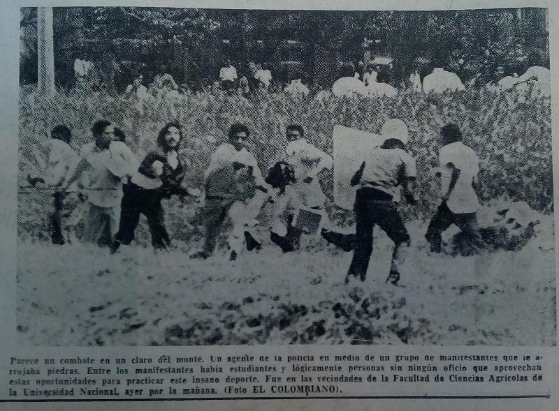 Fotografía tomada de la edición del 19 de mayo de 1972 del periódico El Colombiano.