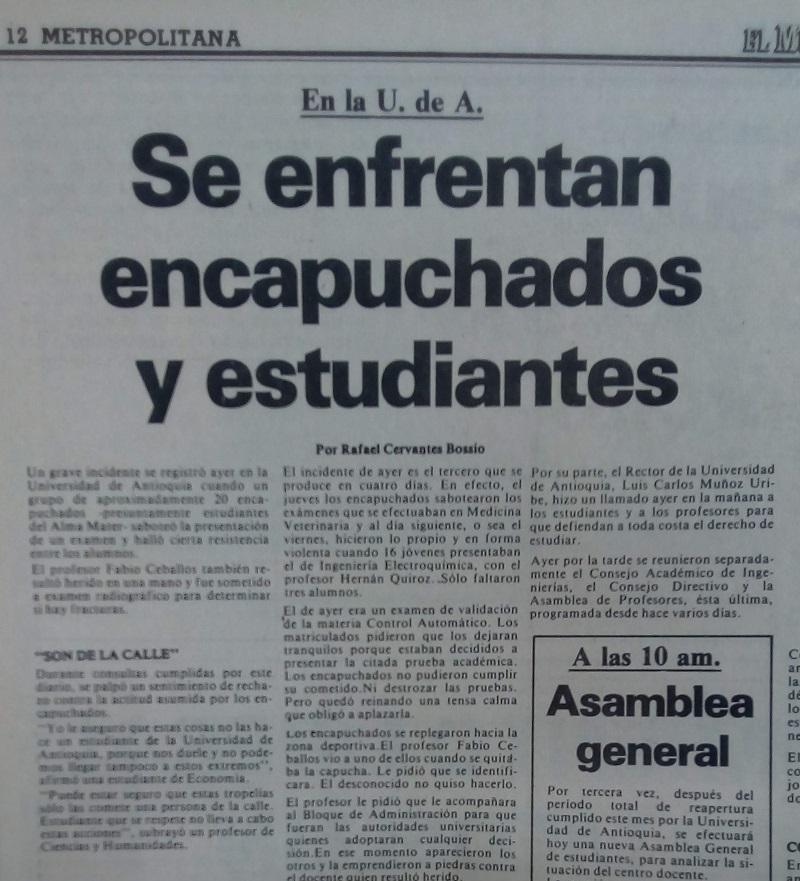 Fotografía tomada de la edición del 19 de febrero de 1980 del periódico El Mundo.