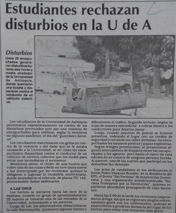 Fotografías tomadas de la edición del 10 de junio de 1993 del periódico El Colombiano.