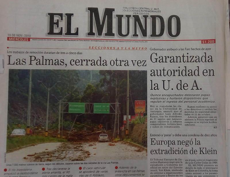 Fotografía tomada de la edición del 10 de noviembre del 2010 del periódico El Mundo