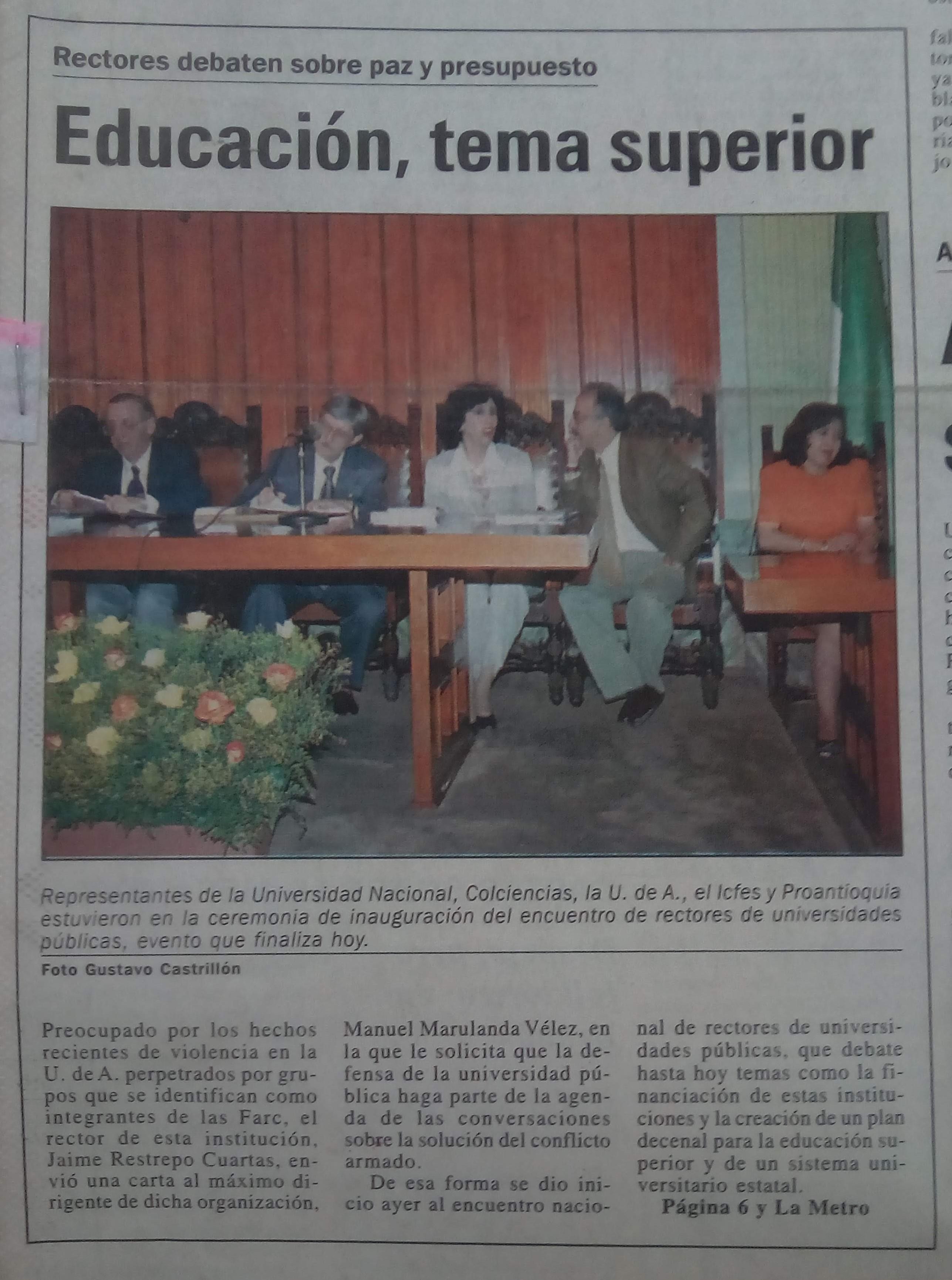 Fotografía tomada de la edición del 28 de noviembre de 1998 del periódico El Mundo.