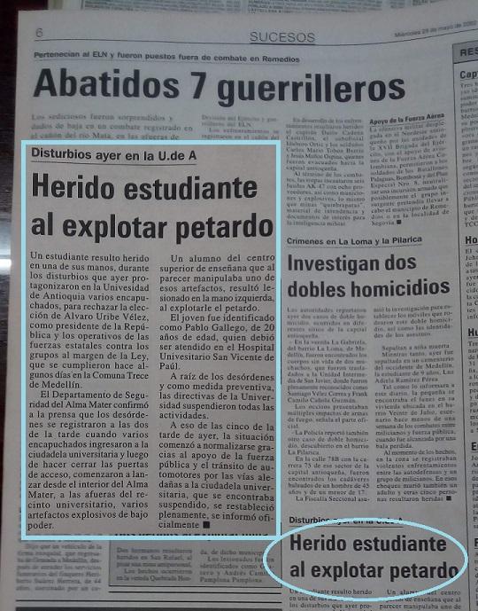 Fotografía tomada de la edición del 29 de mayo del 2002 del periódico El Mundo.