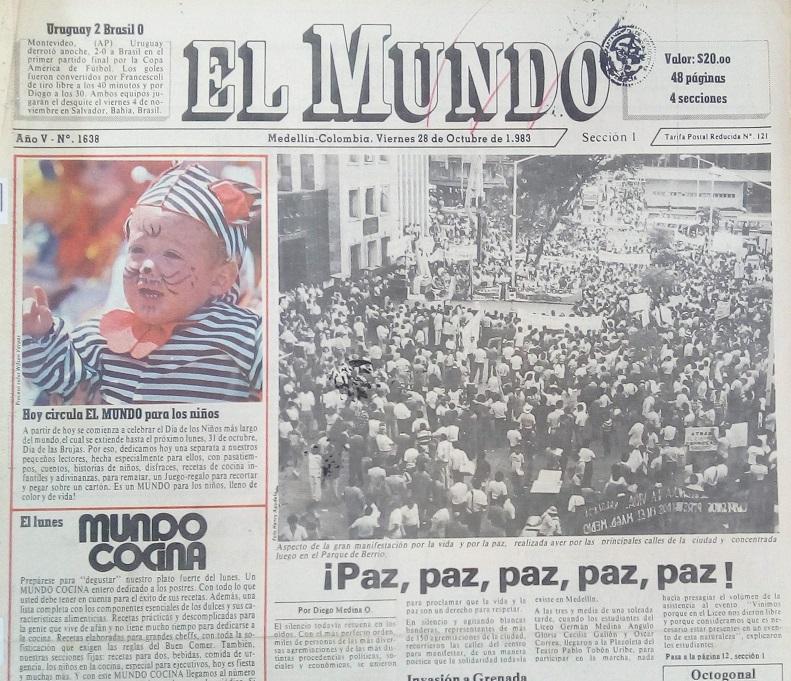 Fotografía tomada de la edición del 24 de junio de 1983 del periódico El Mundo.