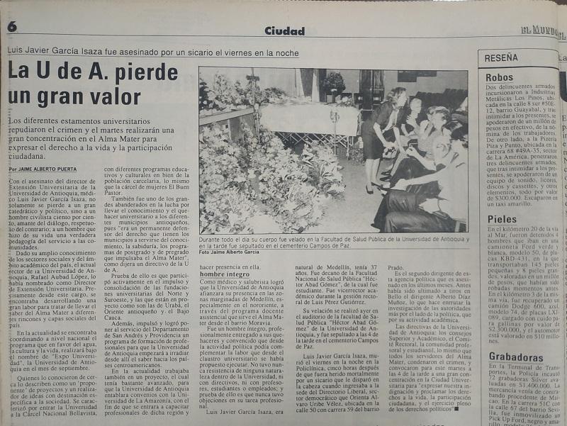 Fotografías tomadas de la edición del 20 de junio de 1993 del periódico El Mundo.