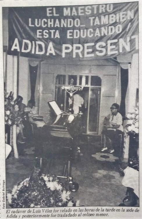 Fotografía tomada de la edición del 26 de agosto de 1987 del periódico El Mundo.
