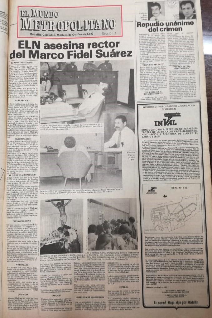 Fotografía tomada de la edición del 4 de octubre de 1982 del periódico El Mundo.