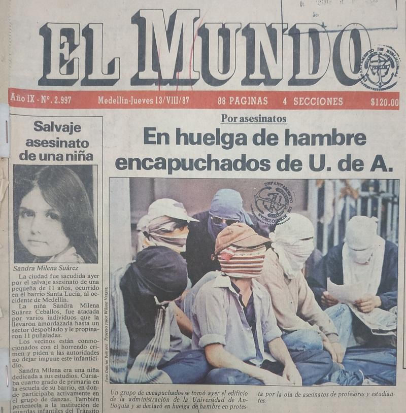 Fotografía tomada de la edición del 13 de agosto de 1987 del periódico El Mundo.