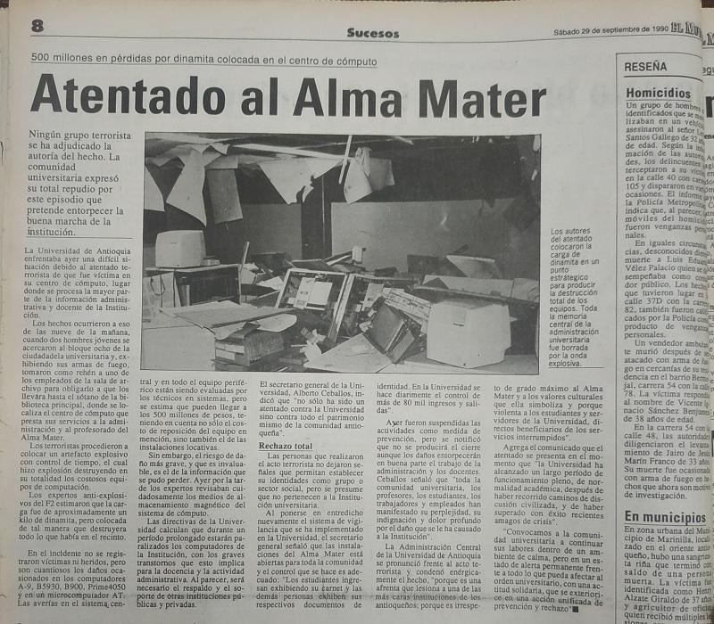 Fotografías tomadas de la edición del 29 de septiembre de 1990 del periódico El Mundo