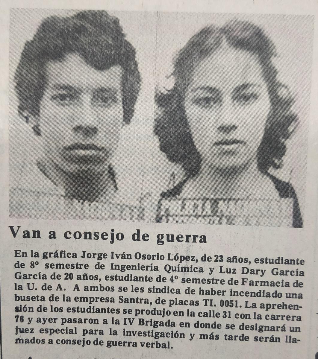 Fotografía tomada de la edición del 19 de mayo de 1978 del periódico El Colombiano