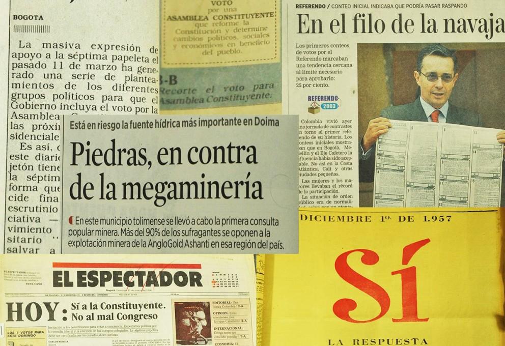 Cuatro hitos de participación ciudadana en Colombia