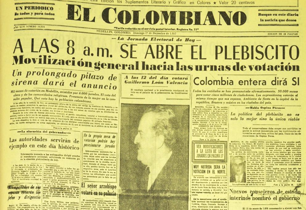Del 57: primer hito de consulta al pueblo colombiano