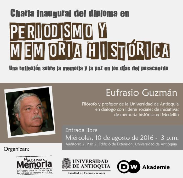 Un diálogo entre academia y sociedad dará inicio al Diploma en Periodismo y Memoria