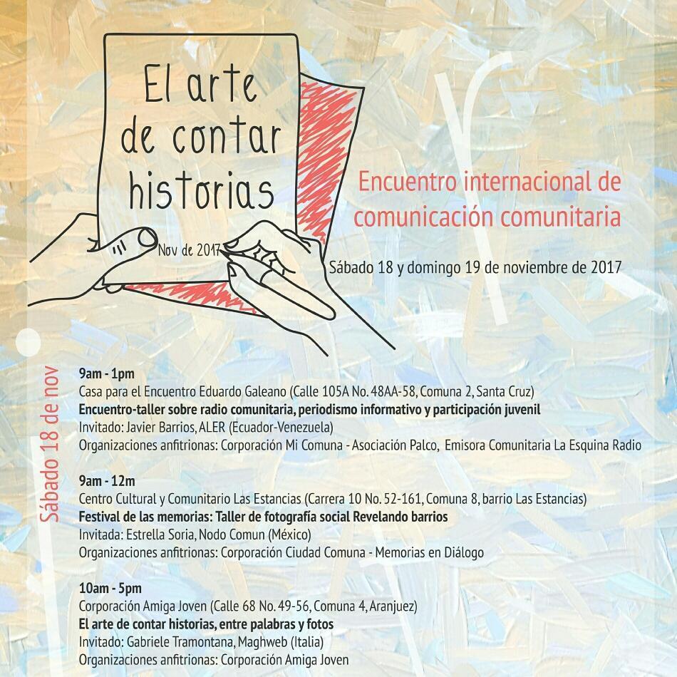 Compartimos la invitacin al Encuentro Internacional de Comunicacin Comunitaria quehellip