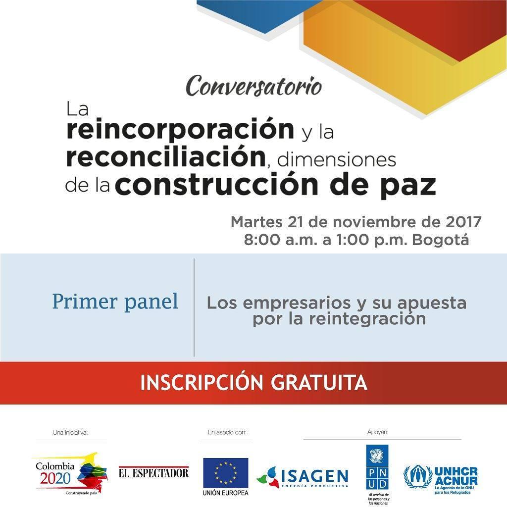 Compartimos la invitacin de eecolombia2020 para el conversatorio La reincorporacinhellip