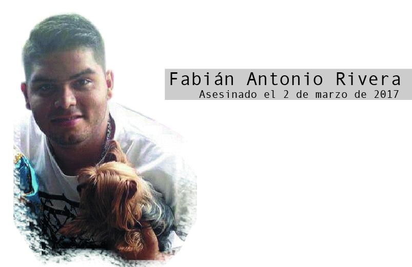 Fabián Antonio Rivera: el líder que no llegará a su cumpleaños veinticuatro