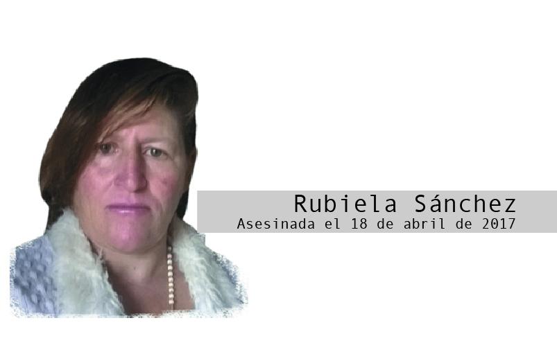 Rubiela Sánchez: la última caminata a casa