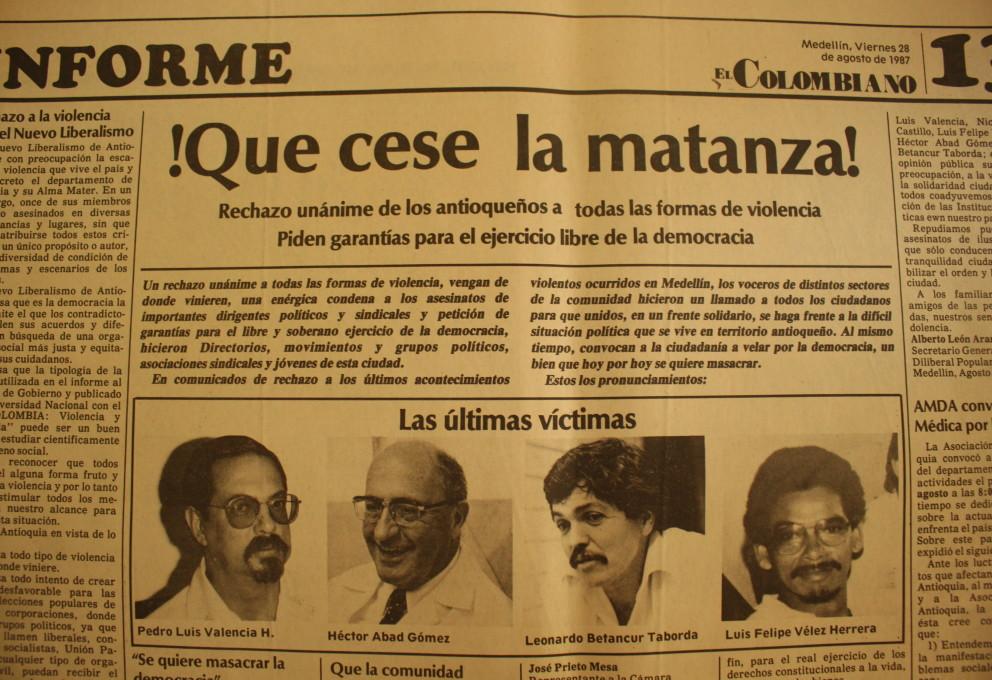 Las víctimas de 1987