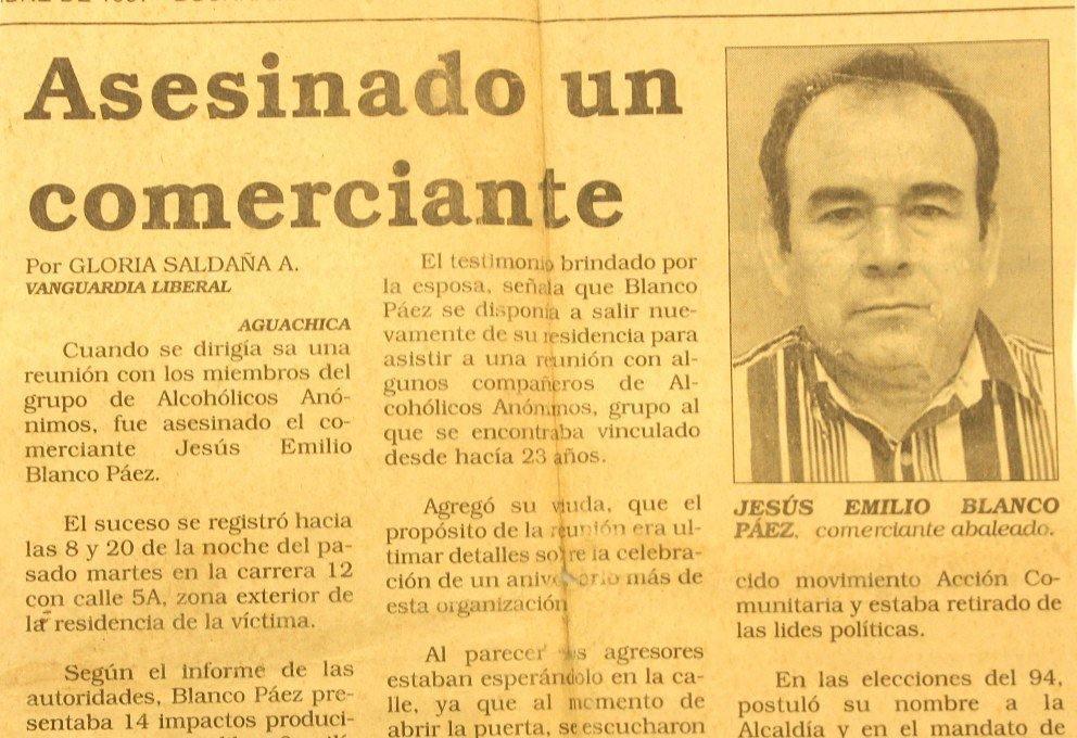 Se cumplen 20 aos del asesinato de Jess Emilio Blancohellip