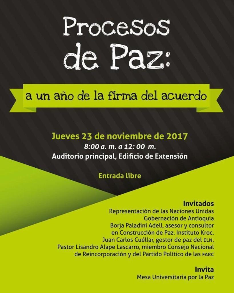 Compartimos la invitacin de la Universidad de Antioquia para elhellip