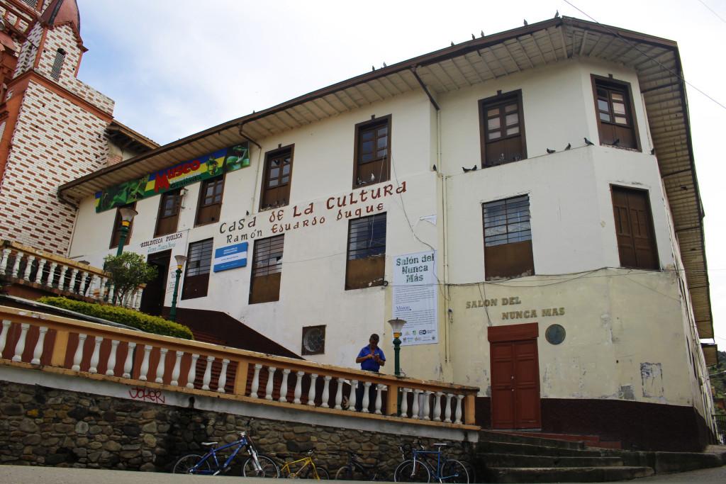 El Salón del Nunca Más está ubicado en la planta baja del edificio en el que funciona la Casa de la Cultura de Granada. Foto: Esteban Tavera.
